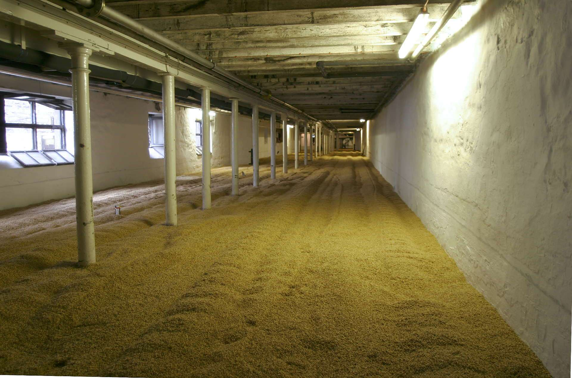 malting floor at Highland Park distillery