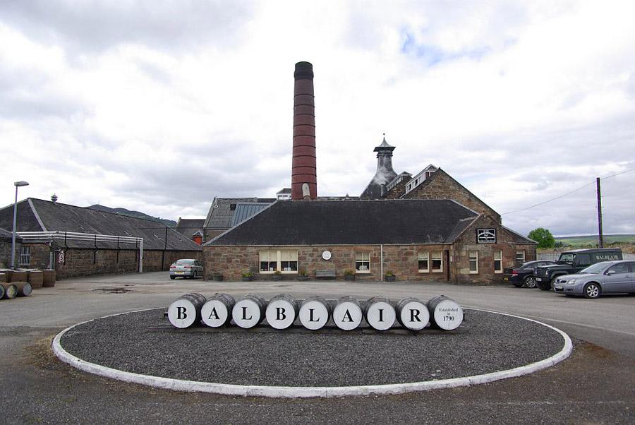 Outside balblair distillery