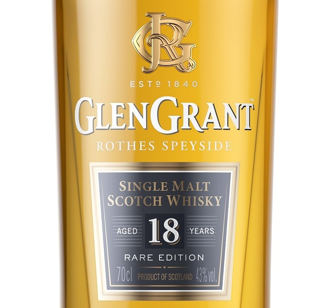 Glen Grant 18 Year Old whisky label