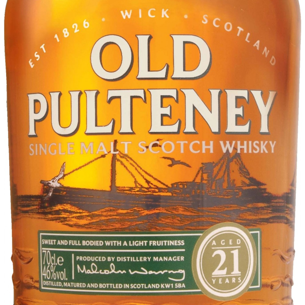 Old Pulteney 18 Year Old label