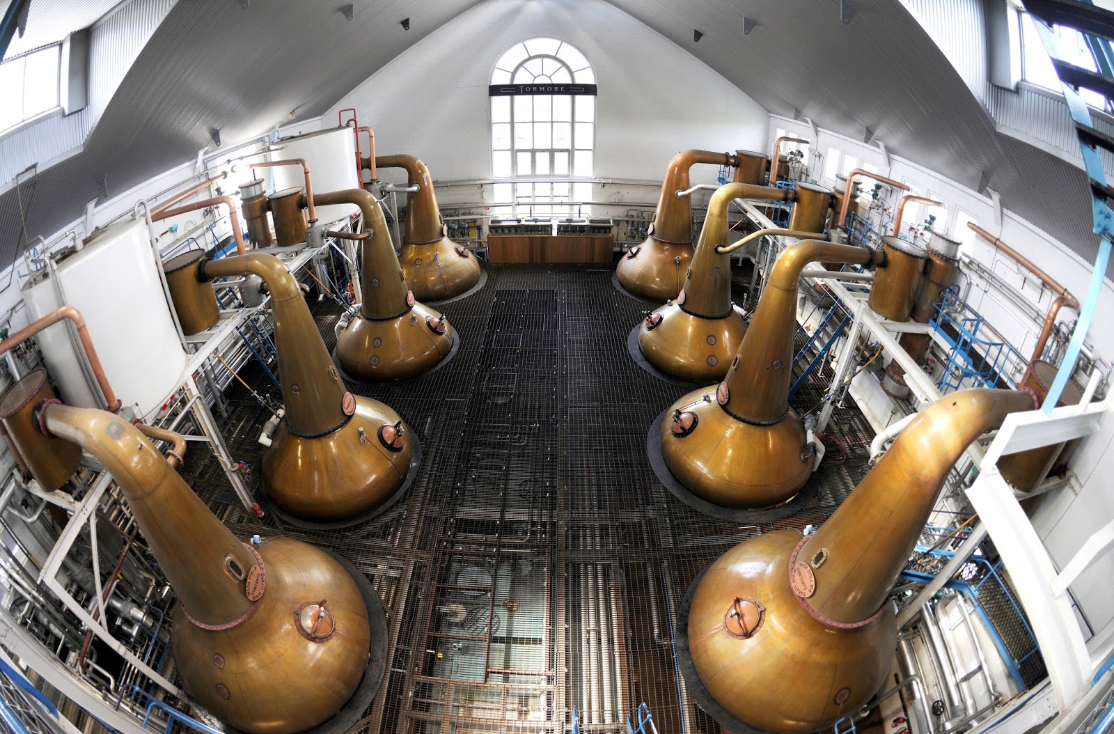 Copper stills at Glen Grant