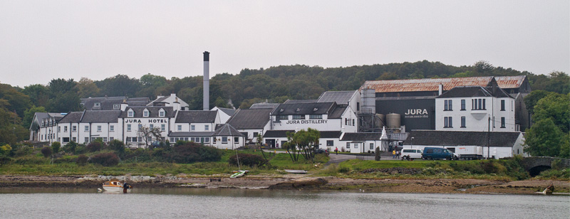 Jura distillery outside